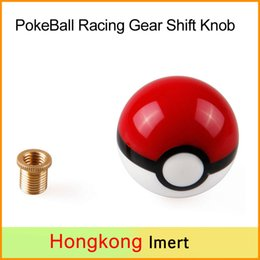 Wholesale Wholesale Shift Knobs - New 60mm Poke PokeBall Racing 12x1.25 Gear Shift Knobs with 3 adaptors ( 10*1.5, 10*1.25, 8*1.25)