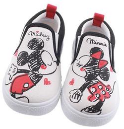 Wholesale Girls Canvas Shoes Cartoon - Fashion Boys Girls Canvas Shoes Causal Shoes Cartoon Mickey Pattern Kids Good Gift 5 pairs l free shipping