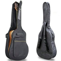 """Wholesale Guitar Cases Free Shipping - New Arrival 41"""" Acoustic Guitar Double Straps Padded Guitar Soft Case Gig Bag Backpack free shipping"""