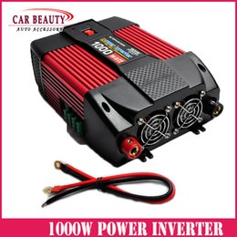 Wholesale Dc 12v 24v Power Inverter - Wholesale- Car Power Inverter 1000W DC 12V 24V TO AC 220V 110V 1000Watt Converter Peak Power 2000W For Car And Familly