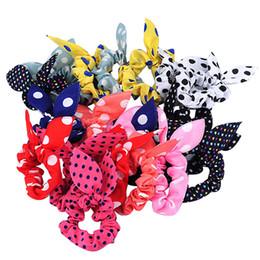 Wholesale Korean Ponytail Hair Style - Wholesale- 10Pcs Rabbit Ear Hair Tie Bands Accessories Japan Korean Style Ponytail Holder 8JPZ