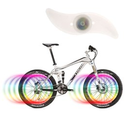 Wholesale Silicon Bike Lights - Wholesale- Coloful LED Bike Wheel Light Battery Bicycle Wheel Spokes Light Neon Green Red Blue Colorful Silicon