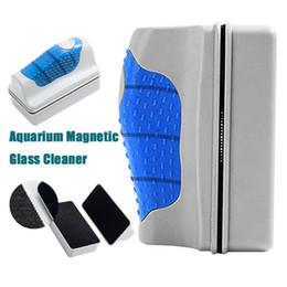 serbatoio di pesci d'acquario di vetro Sconti Spazzola magnetica Acquario Magnetico Detergente per vetri Serbatoio di pesce Pulitore di alghe Pulitore galleggiante con spazzolino per la pulizia con il pacchetto al dettaglio DHL Free OTH285