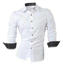 Wholesale 2016 camisas casuales visten para hombre ropa de manga larga de un solo pecho social slim fit marca boutique de algodón botón occidental