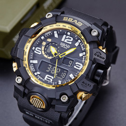 Wholesale Men S Electronic Sport Watch - SBAO Factory direct sales explosion explosion outdoor sports waterproof multi - functional men 's electronic watches 1pcs shipping