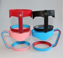 розовый держатель чашки Скидка Портативная ручка для 30OZ чашек автомобиля черный розовый голубой чашки кружки ручка идеально приспособлено для держателей 30OZ чашек автомобиля