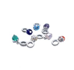 Wholesale pandora birthstone charms - Multicolours Crystal Birthstone Dangles Birthday Stone Pendant Charms Beads Pandora Rhinestone Fit Charm European Bracelet & Necklace DIY