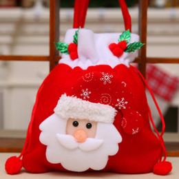 2017 NUOVI Regali di Natale di moda Decorazione di Natale di stile di Santa Borse di caramella di cerimonia nuziale di Natale Regali adorabili Borsa di Natale per i bambini da