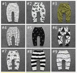 Wholesale Toddler Boy Striped Pants - 2016 Baby Leggings Newborn Unisex Fox Pants Autumn Kids Striped Cotton Trousers Toddler Boys Haren Tights Outfits