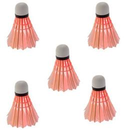 Wholesale Led Badminton Shuttlecock Birdies - Wholesale-5pcs lot Dark Night LED Badminton Shuttlecock Birdies Lighting Red