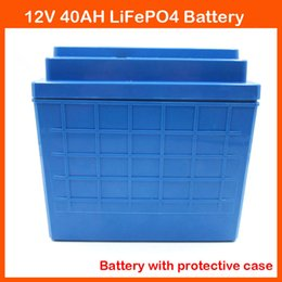 Wholesale 12v Lifepo4 - With protective case 12V Lithium battery 12V 40AH LiFePO4 For EBike Audio Equipment Trolling Motor Ice Auger Lifepo4 LFP