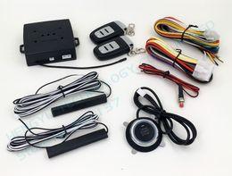 Wholesale Keyless Entry Remote Start Alarm - PKE car alarm system push start stop button,passive keyless entry,remote engine start,auto lock car door,but no siren HY-904 RM2