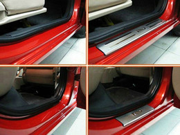Wholesale Door Sill Kia - For KIA RIO 2007 2008 2009 2010 2011 2012 Stainless steel door sills scuff Plate Door Entry Sill car accessories car door protector trim