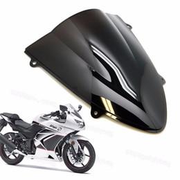 2019 kawasaki ninja pára-brisas Novo pára-brisa de pára-brisa de motocicleta ABS para Kawasaki Ninja 250 250R EX250 2008-2012 2009 2010 2011