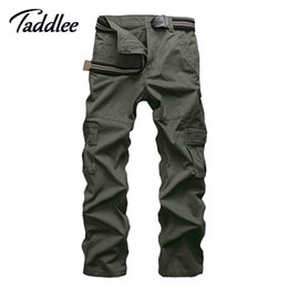 Wholesale Cargo Combat Work Trousers - Wholesale-Men Multi-pocket Casual Cotton Long Military Pants Khaki Male Men Work Cargo Overalls Camouflage Pants Combat Straight Trousers