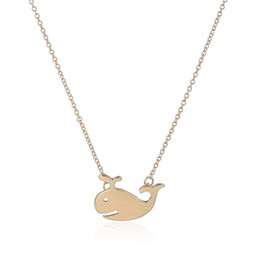 Wholesale Sailor Swim - Cute Animal Accessories Lovely Swimming Whale Pendant Necklaces Long Chain Necklace for Women Kids Sailor Fashion Jewelry Lovers Necklace