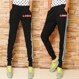 Wholesale Stripe Sweat - Wholesale-3color 2016 New Designer Casual Pants Men 4XL White Stripe Cotton Pants Elastics Waist Drawstring Sports Trousers Gym Sweat Pant