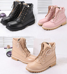 boots cowhide leather Coupons - Wholesale New Fashion Brand Shoes women's boots High quality classic original Cowhide genuine leather Ankle Martin boots Fast Delivery