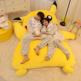 Wholesale Beanbag Giant - Japan Anime Giant Plush Stuffed Pikachu Sleeping Bag Beanbag Sofa Bed Tatami Carpet Mattress Great Gift