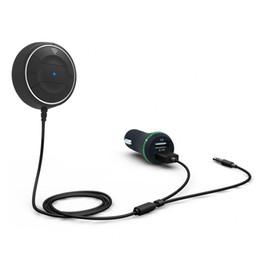 Kit de manos libres Bluetooth 4.0 para coche con función NFC + 3.5mm AUX Receptor Música Aux. Altavoz 2.1A Cargador de coche USB desde fabricantes
