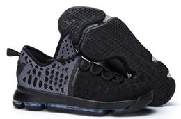 Wholesale Kd Cheap Price - 2016 top Basketball Shoes KD 9 MIC DROP Black Black White PREMIERE Sports Shoes KD VIIII (9) Sneaker cheap Men Athletics wholesale price