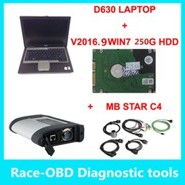 Wholesale Laptop Mb Star Diagnosis - D630 laptop + v2017.12 sd connect mb star c4 diagnosis tool support multi-languages mb C4 Car Diagnostic tool ready to use