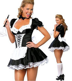 Wholesale Wholesale Sexy Plus Size Costumes - Fashion 2017 New Arrival Women's Sexy Spruce Lovely Princess Dress Sexy Maid Uniform Suit Game Uniform Sexy Lingerie Plus Size
