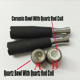 Wholesale Bowling Electronic - Ego Skillet Atomier Ego D Atomizer Dual wax quartz Coils Skillet Vaporizer Vaporizer Wax Quartz Tube Bowl Skillet Globe Electronic Cigare