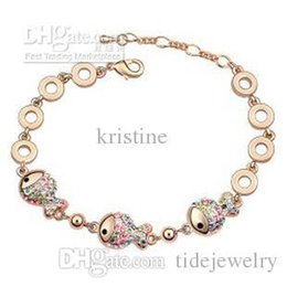 Wholesale Crystal Gold Clowns - Free Shipping new arrival clown fish crystal bracelet ,2016 woman fashion Austria crystal element bangle wholesale price