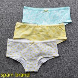 Wholesale Girls Butterfly Underwear - Spain brand girls butterfly dot trunk boxers kids briefs child panties cotton shorts pants children underwear size2-14years 3pcs lot