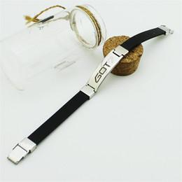 Wholesale Korea Stainless Steel Jewelry - Wholesale- Korea POP GOT7 Bracelet High Quality Titanium Steel Bracelets & Bangles Women Men Jewelry B308