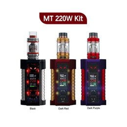Wholesale Refill Leads - Original Sigelei MT Starter Kits 220w TC Box Mod with Revolvr Tank Dual 18650 Top Fill Refill System LED lights kit 100%