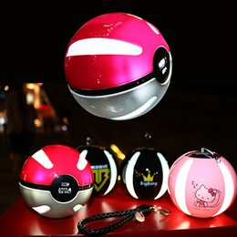 Wholesale Ar Ball - Newest Poke go power bank 10000 mAh for Poke AR game powerbank with Poke ball LED light portable charge figure toys free shipping