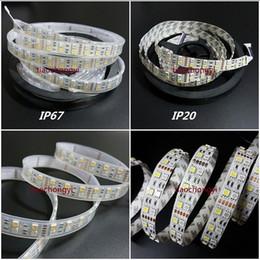 Wholesale Led 12v 75w - DC12V 24V 5M Double Row 5050 SMD 600 RGBW RGBWW RGB White Flex LED Strip light 120led M 600led 5M