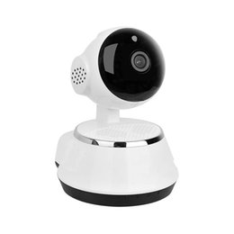 Wholesale Ip Cam Wifi Micro Sd - Pan Tilt Wireless IP Camera WIFI 720P CCTV Home Security Cam Micro SD Slot Support Microphone & P2P Free APP ABS Plastic