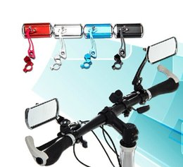Wholesale Handlebar End Mirrors - Outdoor Bike rear view mirror  classic cycling rectangle mirror reflector  handlebar end rearview mirror bicycle parts