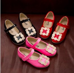 Wholesale Spring Chen - Ug new spring Chen arrival girls princess shoes for girls children single shoes with rhinestones bright ue 21-30