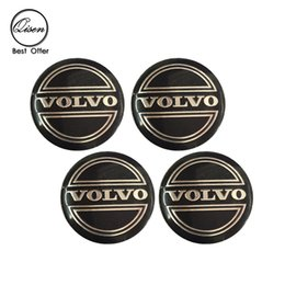 Wholesale Volvo Stickers - 56.5mm 3D Car Badge Wheel Center Hub Cap Sticker Durable Logo Brand Emblem Car Accessory Anti Fade Wheel Decoration Fit For VOLVO