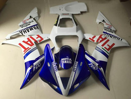 Wholesale Yamaha Blue Motorcycle - 3 Free Gifts New motorcycle Fairings Kits For YAMAHA YZF-R1 2002 2003 r1 02 03 YZF1000 bodywork hot sales FIAT