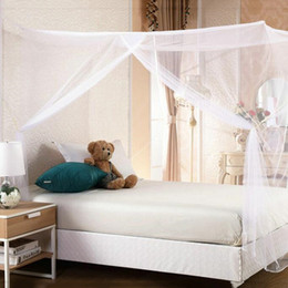 Wholesale Mosquito Insects - 1.5M Mosquito Net Bed Nets Mosquitoes Curtain Square Shape Mosquito Net Double Bed Canopy Netting Insect Protection For Home
