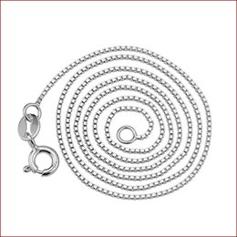 Wholesale Single Boxed Rose - Manufacturers wholesale silver necklace 925 sterling silver box chain necklace short section of single-chain fashion upscale jewelry