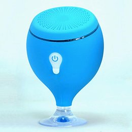 Wholesale led spa bath - Wholesale- Portable Bluetooth Speaker LED Light Waterproof Floating Pool Bath Spa Shower Speakers With Bottom Sucker
