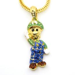 Wholesale Hip Hop Fashion Jewelry Women - Fashion Women 24inch Franco chain Cartoon Game pendant Hip hop Necklace Jewelry N619