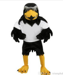 aquila fantasia vestito Sconti 2017 Deluxe Peluche Falcon Mascot Costume Formato adulto Aquila Mascotte Mascota Carnevale Party Cosply Costume Fancy Dress Suit Fit
