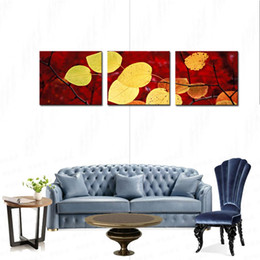 Hojas de las pinturas del arte moderno online-Art Fallen Leaves Impresiones en lienzo Modern Wall Art Paintings Stretched and no Framed Giclee Artwork for Room Decoration