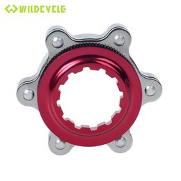 Wholesale Blue Disc Brake - Bicycle Disc Brake Center Lock Disc Rotor Adapter for 6 Bolts MTB Bike Cycling Parts Black Red Blue Gold