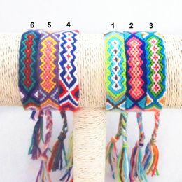 Wholesale Friendship Bracelet Handmade Flowers - Friendship Bracelet Handmade Woven Rope String Hippy Boho Embroidery Cotton Friendship Bracelets For Men Women Hot Selling Summer Bracelet