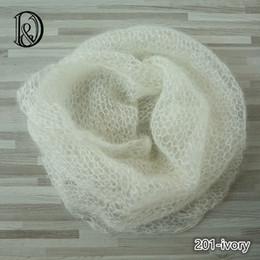 Wholesale Baby Photo Props Mohair - 60x30cm Handknit Real Soft Little Mohair Wraps Newborn Photography Props Baby Photo Wraps