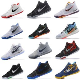 Wholesale Basketball Ball Size - 2017 New Arrival Kyrie Irving 3 Signature Game Basketball Shoes For Top Quality Men's Sports Training Basket ball Sneakers Size 40-46
