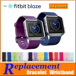 Wholesale Silicone Wristband Strap - Replacement strap for Fitbit Blaze bracelet New High Quality S L Size 14 Colors Soft Silicone Watch Band Wrist Strap Smart Watch Free DHL